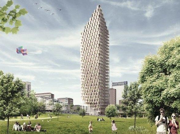 Крона до небес: в Швеции построят деревянный небоскреб