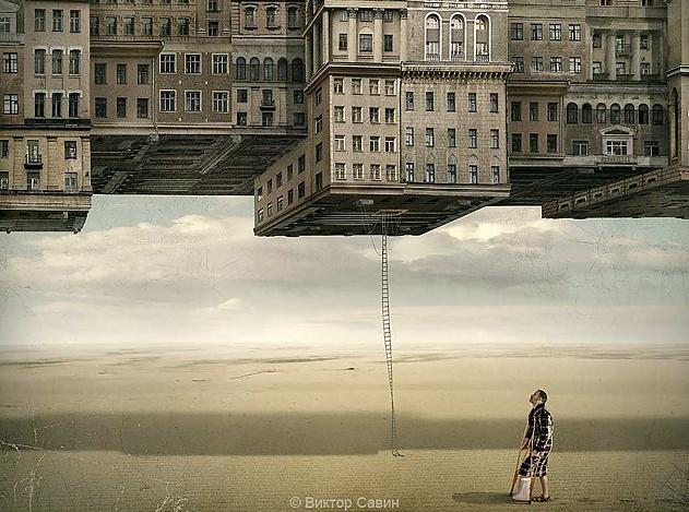 На вас город упал: свободный художник создает фантастическую урба-реальность