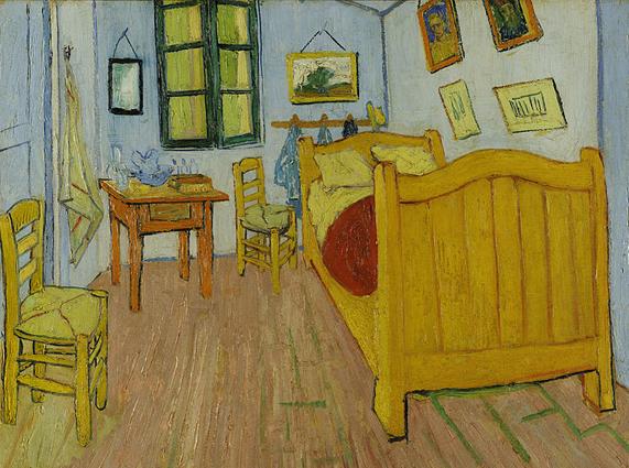 Спальня в желтом доме счастья
