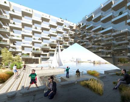 В Амстердаме возведут плавучий жилой комплекс - Фото