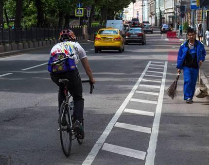 В Москве на уже обустроенных улицах проложат велодорожки - Фото