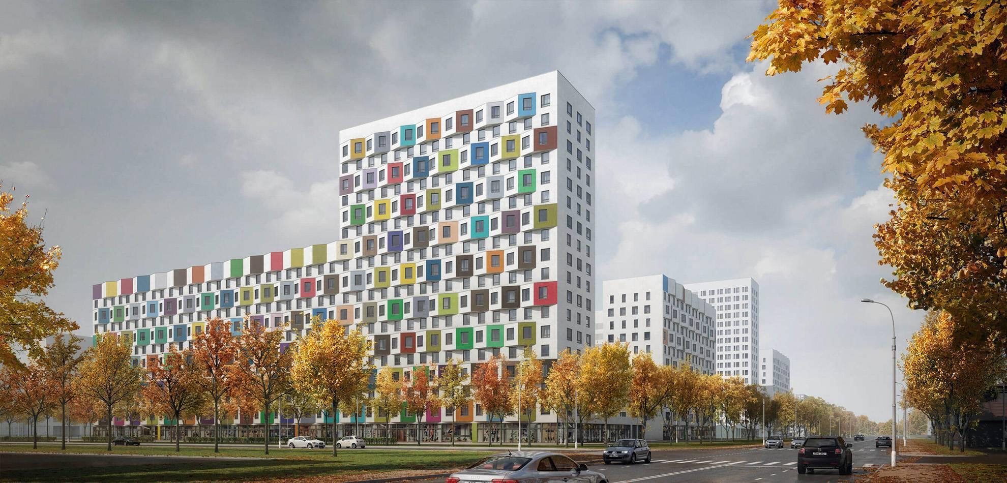 В Москве построят жилой комплекс с фасадами 45 оттенков