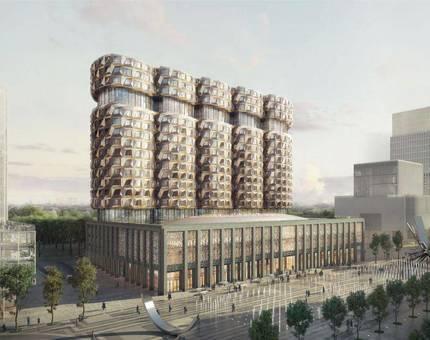 На территории ЗИЛа возведут большой комплекс с гранеными башнями - Фото