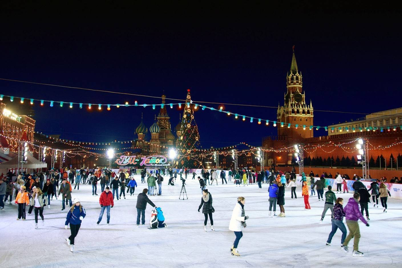 Первые катки в столице России  начнут работать уже 15ноября