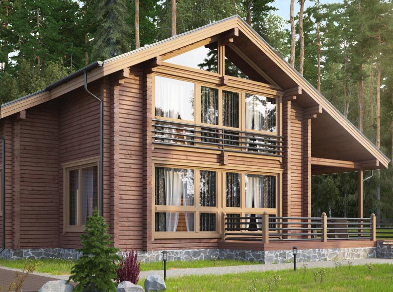 На рынке появился новый улучшенный проект дома из клееного бруса