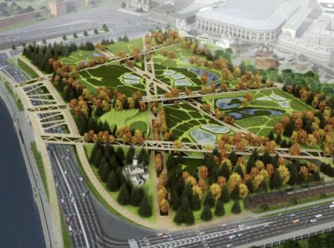 """Создание парка """"Зарядье"""" в Москве начнется через месяц"""
