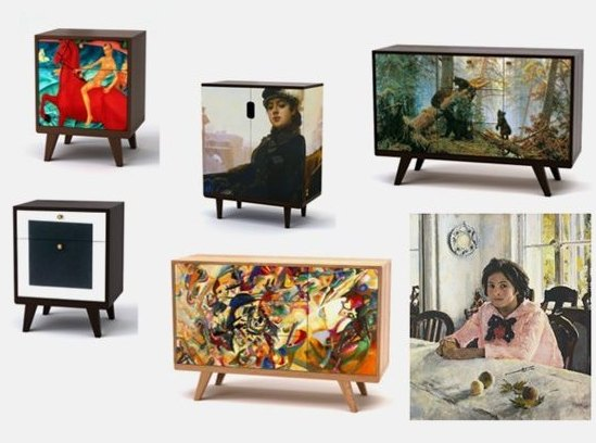 В России появится мебель с картинами Серова и Малевича