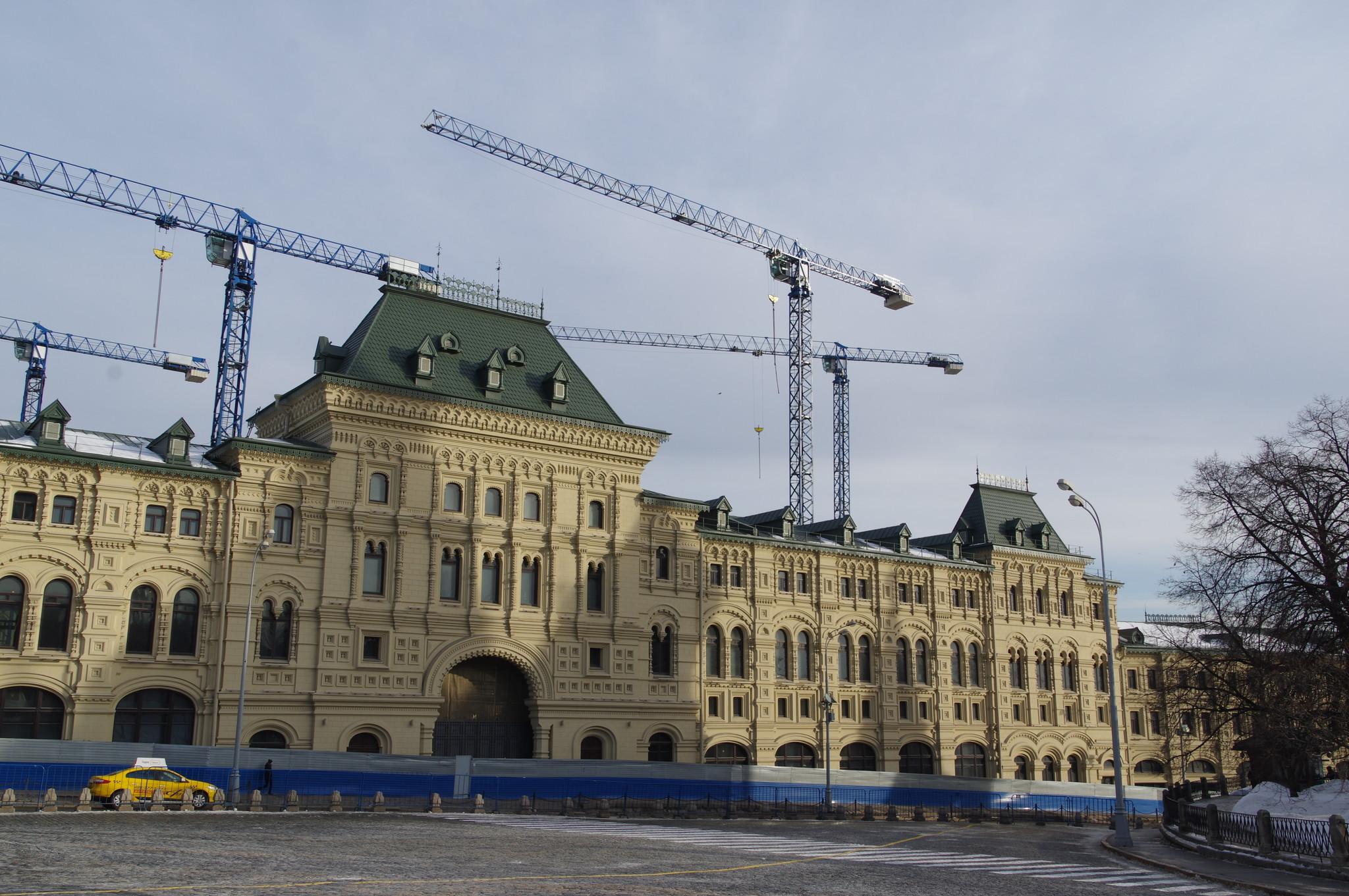 На Красной площади реставрируют здание для размещения Оружейной палаты