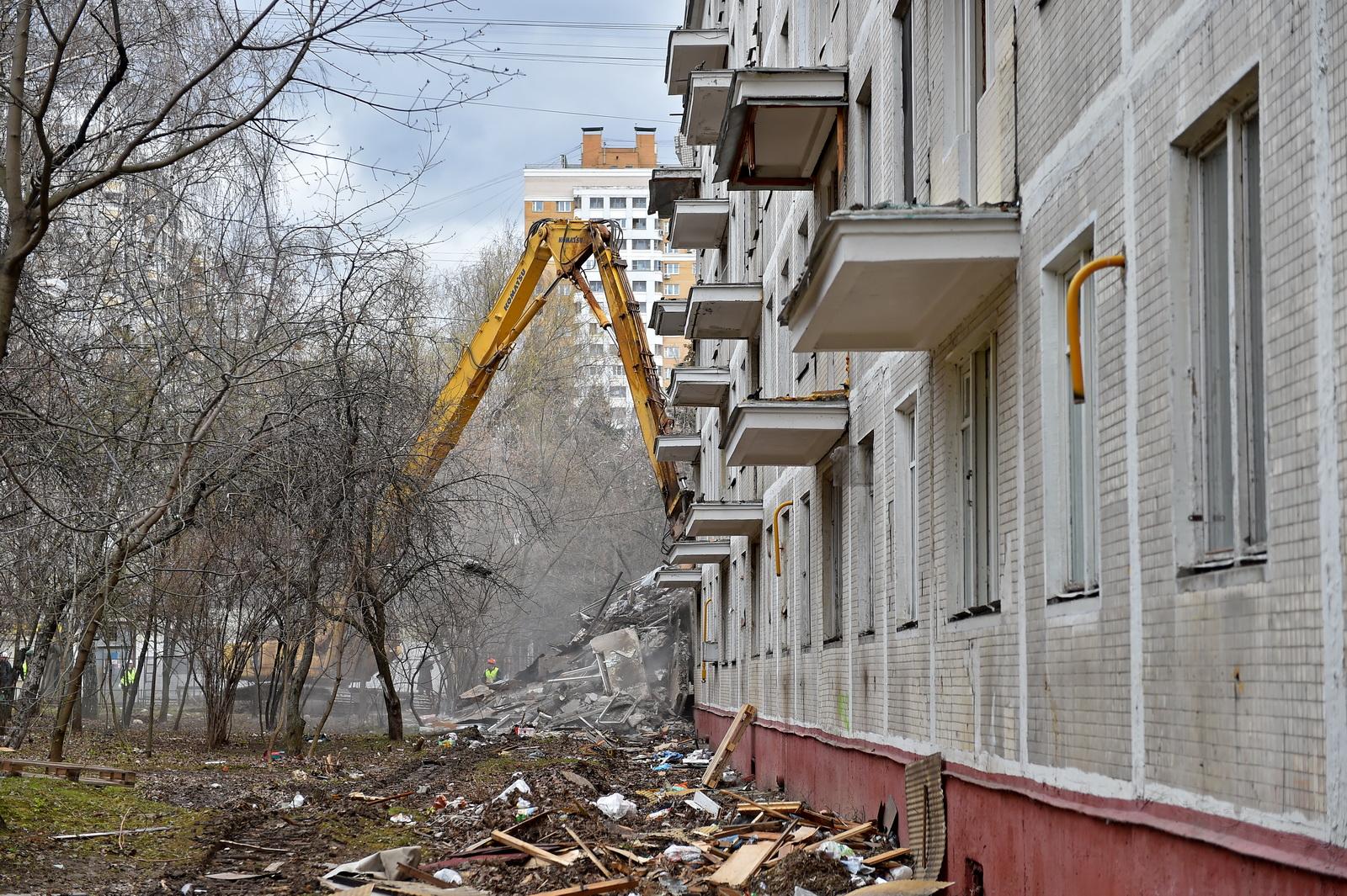 Порядка 100 пятиэтажек планируется снести в Москве в этом году