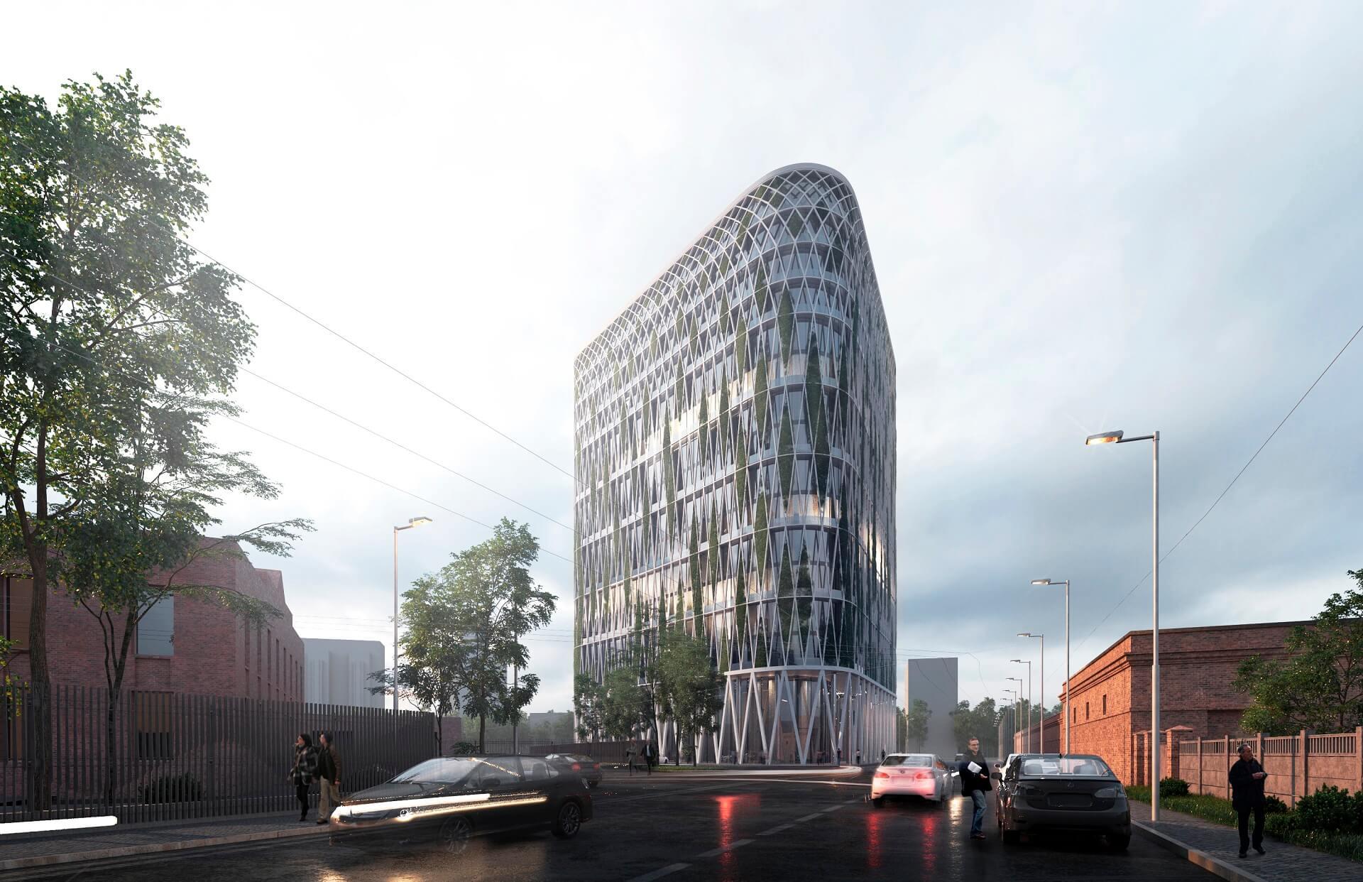 В центре Москвы появится 15-этажная башня, увитая виноградом