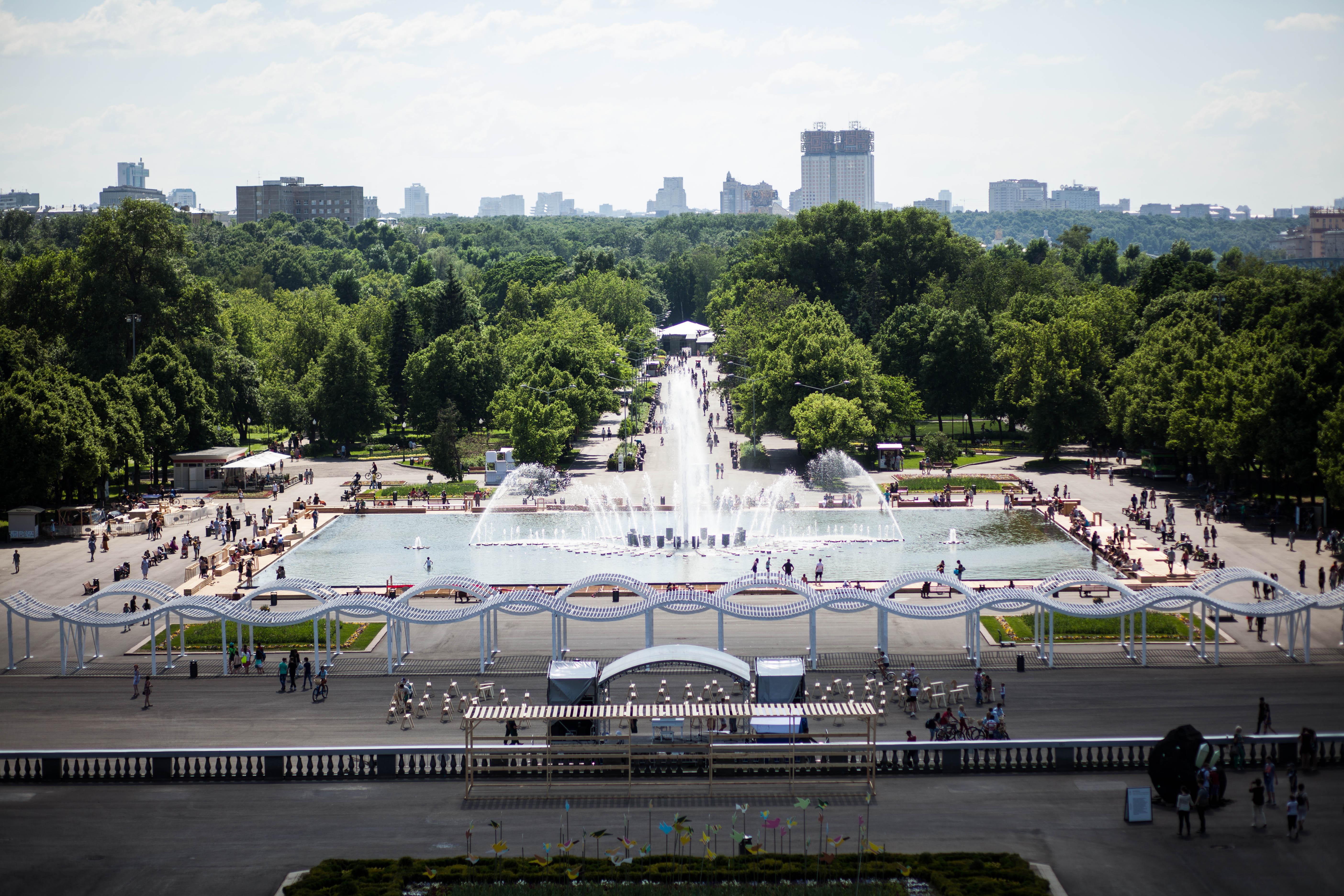 В Парке Горького реконструируют довоенный кинотеатр «Великан»