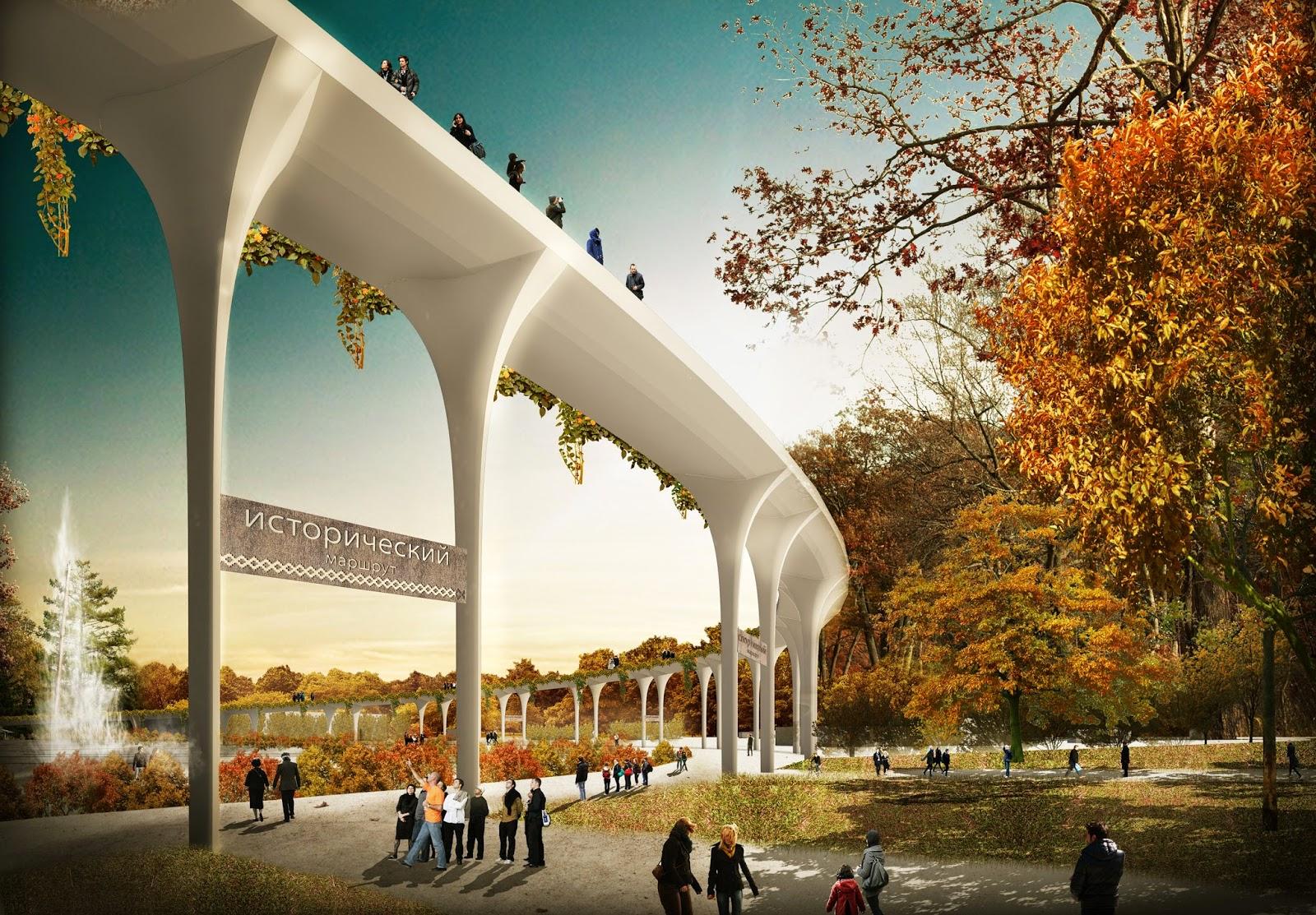 В «Сокольниках» построят четырехкилометровый подвесной мост