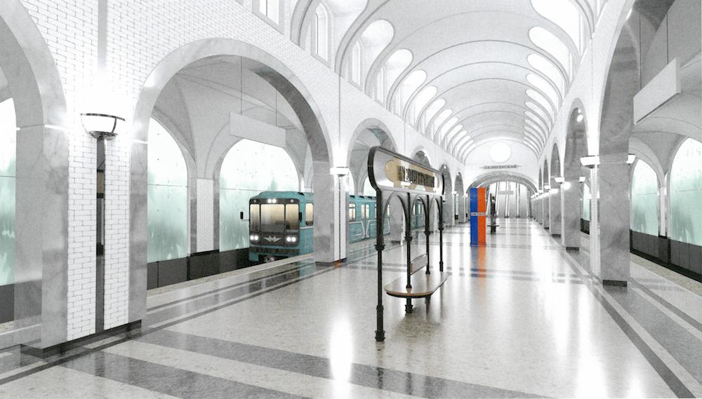 На станции метро «Селигерская» создадут иллюзию водопада