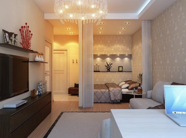 Перепланировка двухкомнатной хрущевки (спальня, детская, кухня ... | 475x638