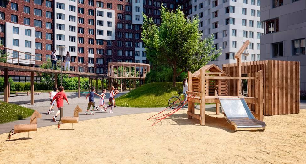 В ЖК «Румянцево-Парк» появятся экологичные детские площадки