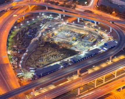 Объем бетона для строительства 15-этажного дома был уложен за 2 дня в фундамент небоскребов iCITY - Фото
