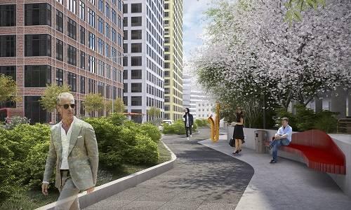 Архитектурное бюро Т+Т Architects разработало концепцию благоустройства для «Савеловский Сити»