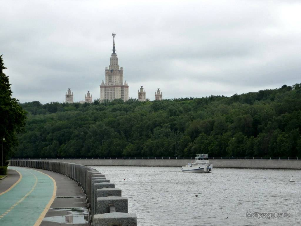 Лужнецкая набережная открыта после реконструкции