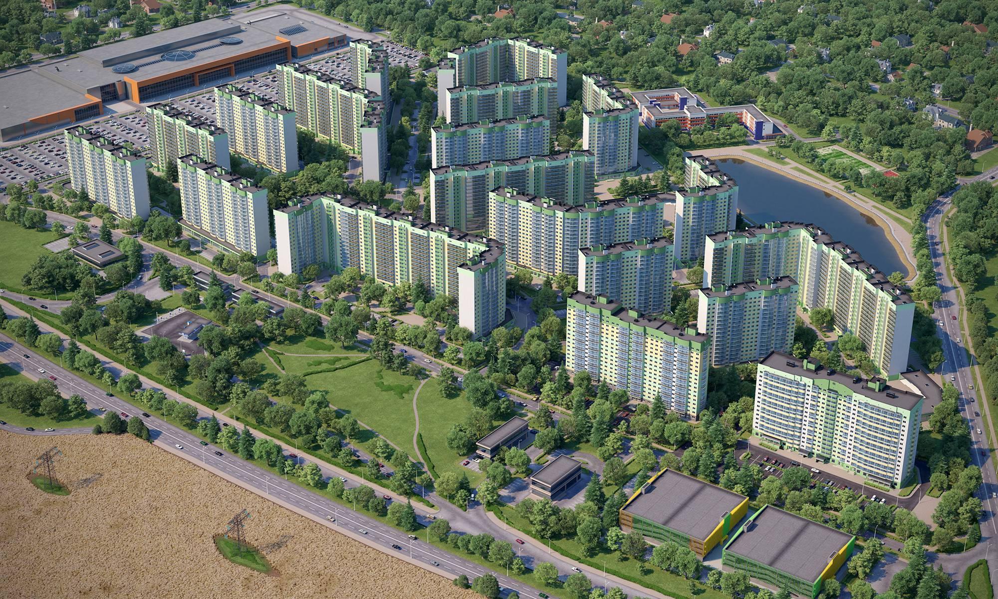 Мкрн «Город Счастья»: хорошая транспортная доступность и квартиры от 1,6 млн рублей