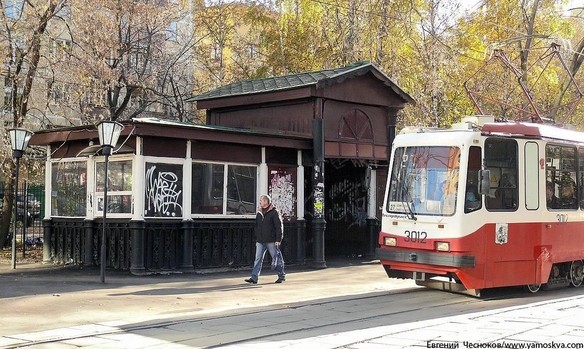 В Москве выставлен на торги старейший трамвайный павильон