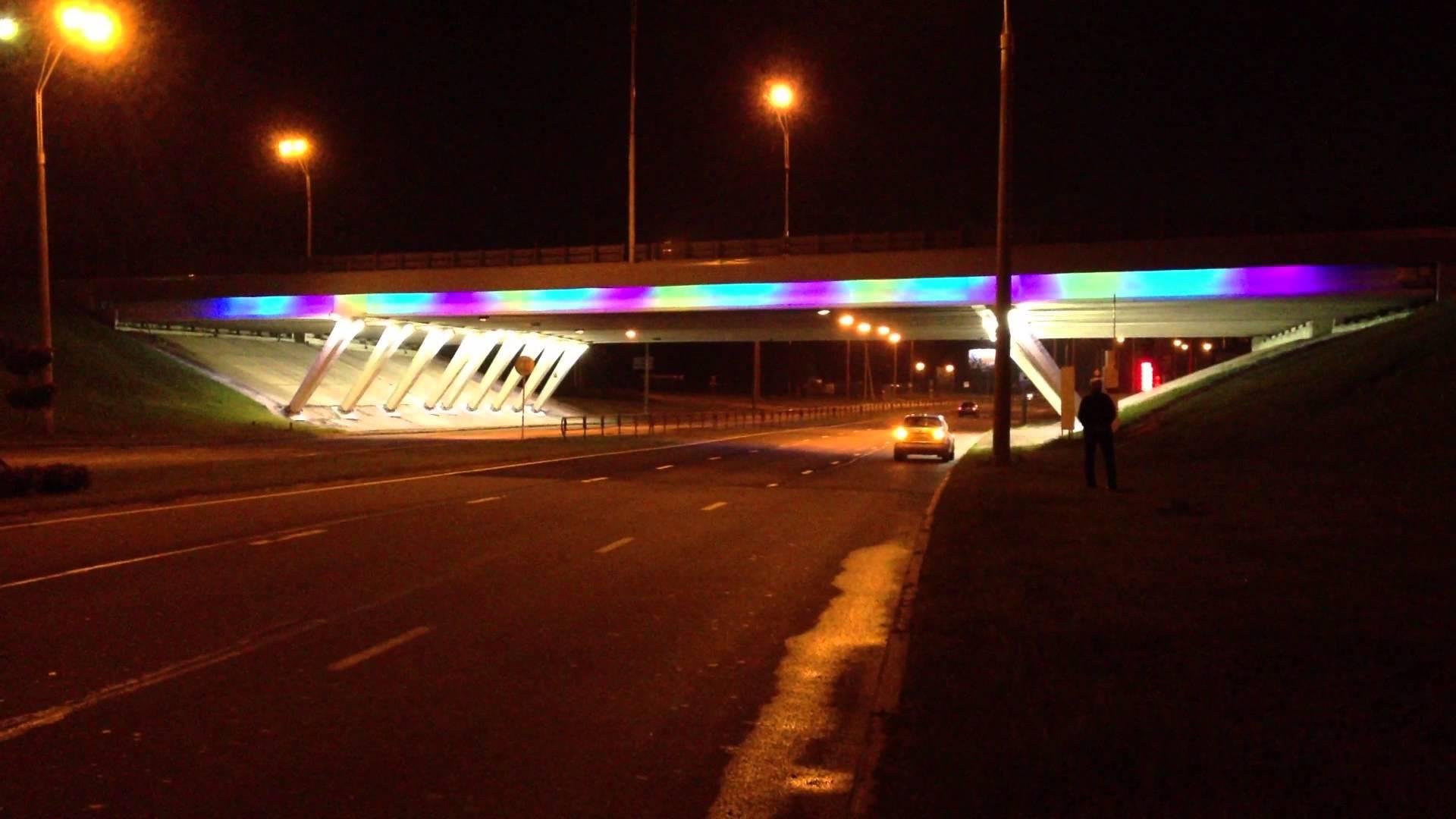 В столице художественно подсветят 12 развязок МКАД