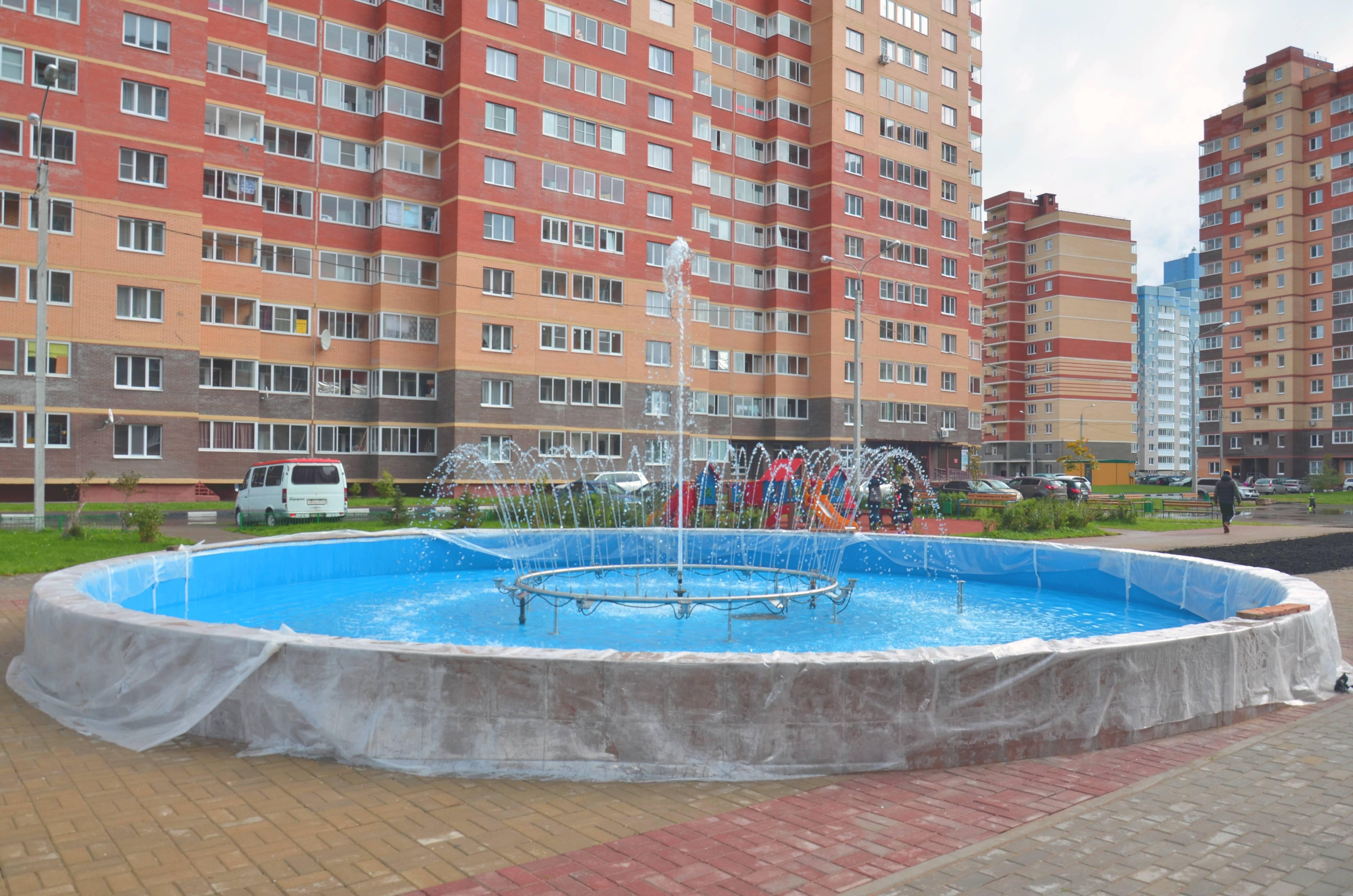 Группа компаний СУ22 открыла фонтан в мкр. Лукино-Варино