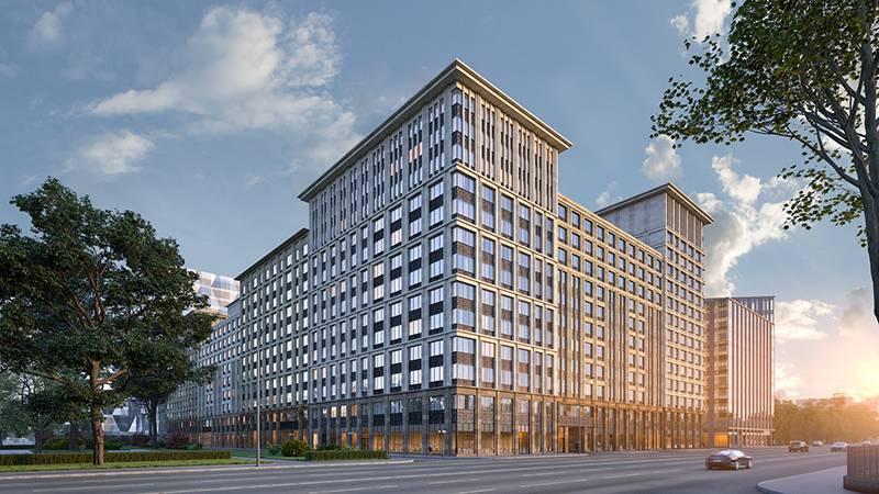 Компания «Галс-Девелопмент» приступила к фасадным работам в городском квартале «Искра-Парк»