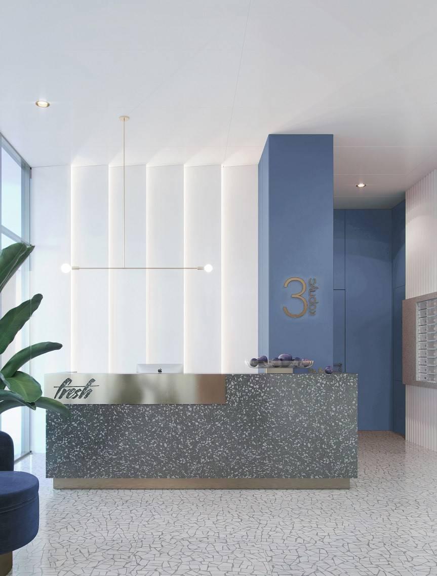 Для интерьеров жилого комплекса FRESH выбраны цвета сочных фруктов