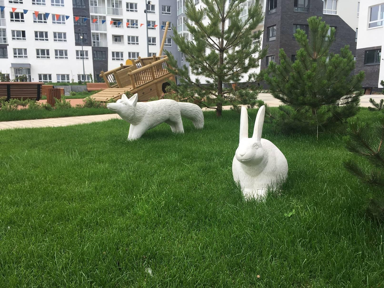 Завершены все работы в мини-парке «Природа Карелии» в ЖК «Белые ночи»
