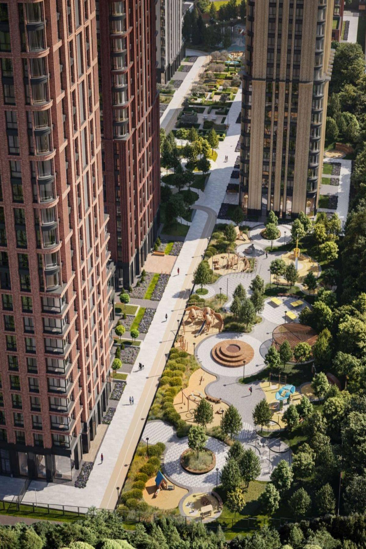 «Селигер Сити» и «Павелецкая Сити» вошли в Топ-8 жилых комплексов Москвы с самыми большими дворами