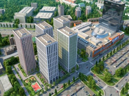 В МФК «Водный» вышел на продажу новый объем апартаментов от 5,4 млн рублей