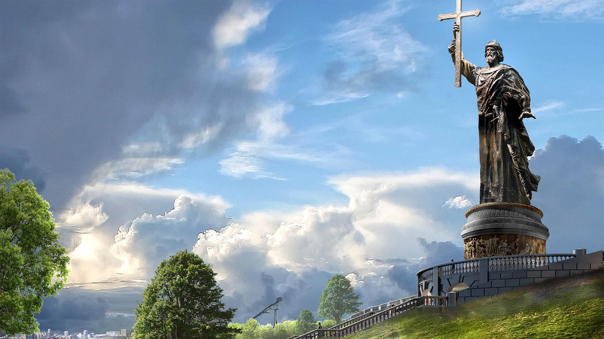 Памятник князю Владимиру вписали в городской контекст с учетом мнения ЮНЕСКО