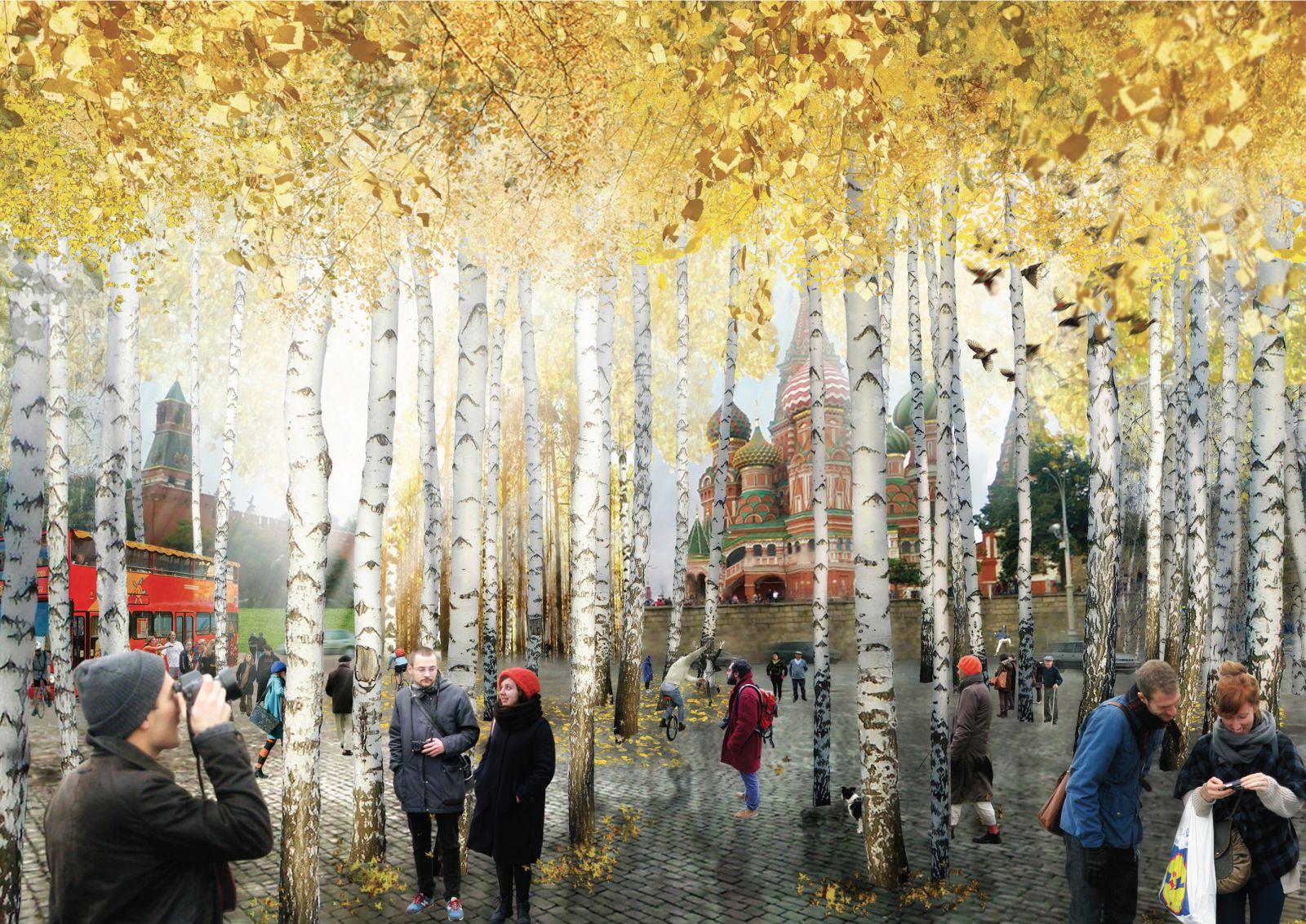 Осенью в парке «Зарядье» высадят деревья и кустарники