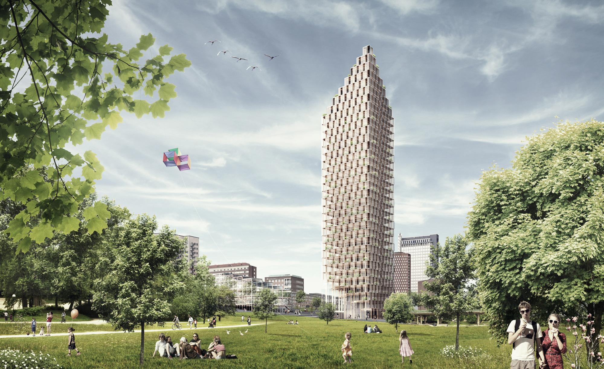 В Швеции возведут небоскреб из дерева