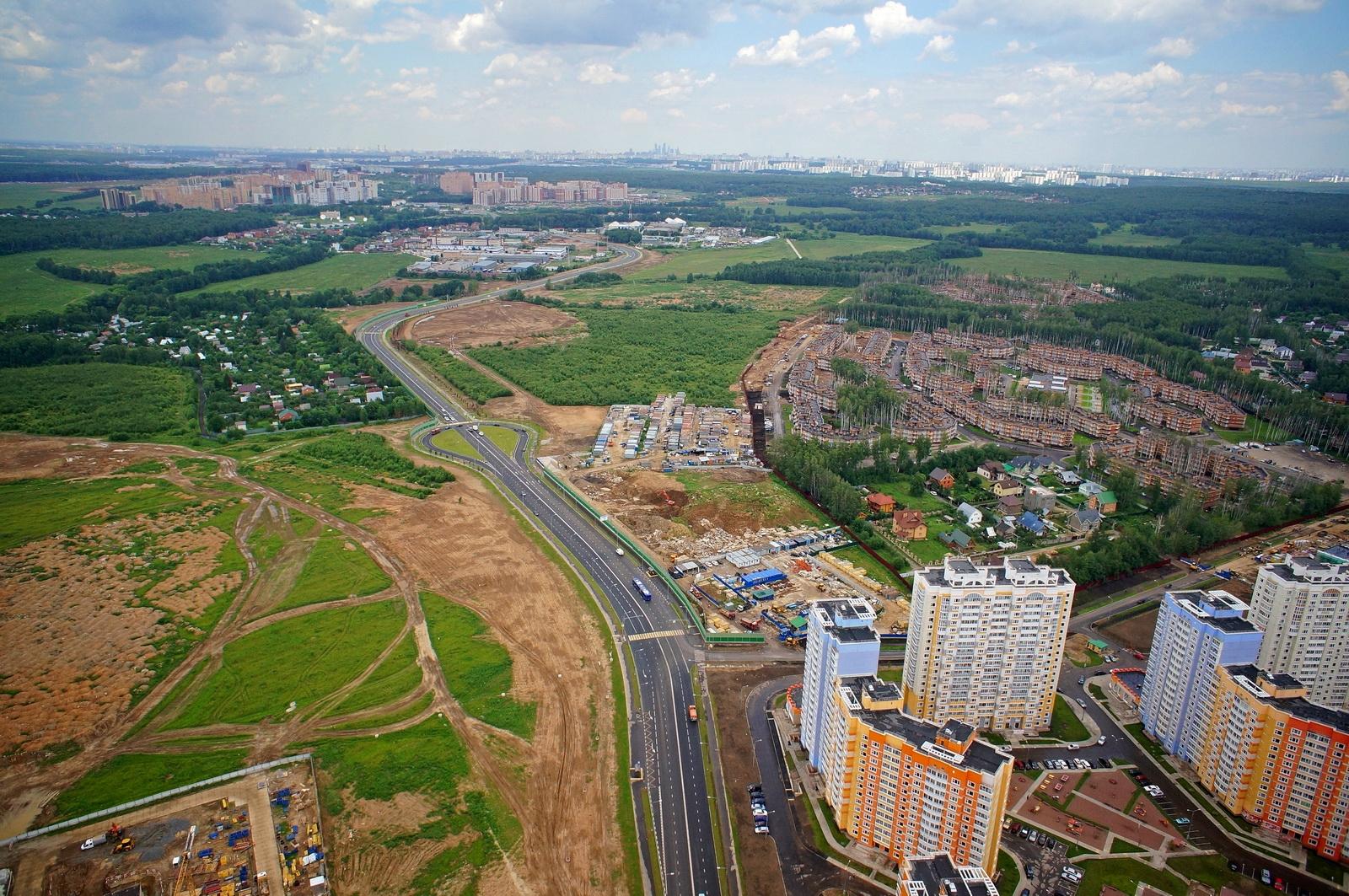 К 2035 году протяженность дорог в новой Москве увеличится вдвое